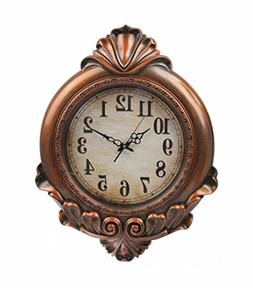 Oversized Vintage Wall Clock,Silent Wall Clock Non Ticking f