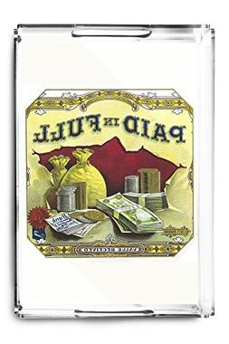 Paid in Full Brand Cigar Outer Box Label