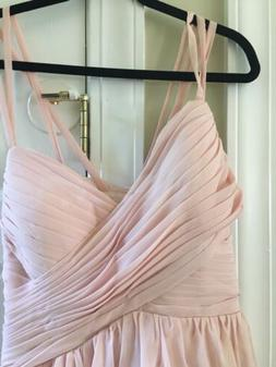 pearl pink PROM dress. New size 12 14 extra long tall open b