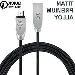 Pi Armor Micro USB Nylon Cord, 3.0 Quick Charge Cable for An