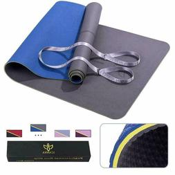 Icanna Yoga Mat Pilates Extra Long Non Slip with Carry Strap