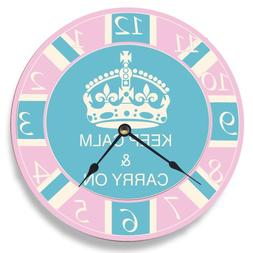 pink blue keep calm carry
