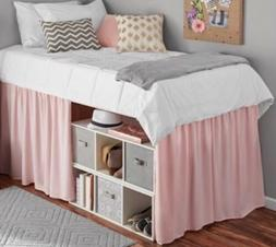 Mainstays PINK Extra Long Extended Dorm Bed Skirt  34''