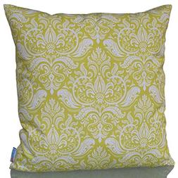 "Sunburst Outdoor Living 18"" x 18""  INTENSE Yellow-White Deco"