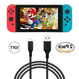 Play & Charge Cable for Nintendo Switch 10FT/3M 2 Pack Switc