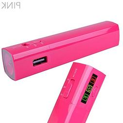 2 Count Halo 3000mAh Pocket Power Bank USB Charger with Cabl