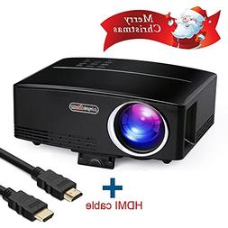 Full HD 1080P Video Projector, Boscheng LCD Portable Home Ci