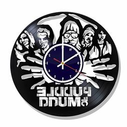 Puddle of Mudd rock band Wall clock made from real vinyl rec