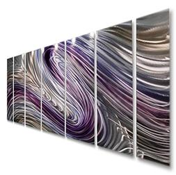 Purple Large Metal Wall Art, Contemporary Wall Painting, Abs