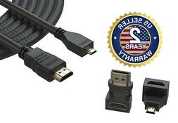 Pwr+® Extra Long 12 Feet Micro-HDMI to HDMI Cable 1080p HDT