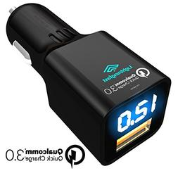 Quick Charge 3.0 Car Charger - For Asus ZenFone, ZTE Axon 7,
