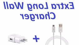 RAPID WALL CHARGER + 6FT EXTRA LONG CABLE FOR SAMSUNG GALAXY
