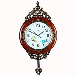 Retro Swing Large Wall Clocks Home Decor Classical Quiet Han