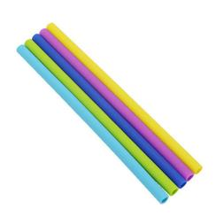Reusable Silicone Drinking Straws Extra Long Flexible Straws