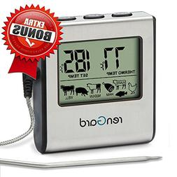 RenGard RG-16 Cooking Digital Meat Probe Thermometer with Al