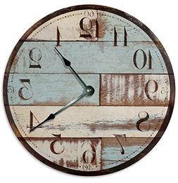 RUSTIC CLOCK Decorative Round Wall Clock Home Decor Wall Clo