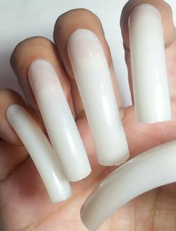 ~SAME DAY SHIPPING! NATURAL EXTRA LONG Curve 20pc False Squa