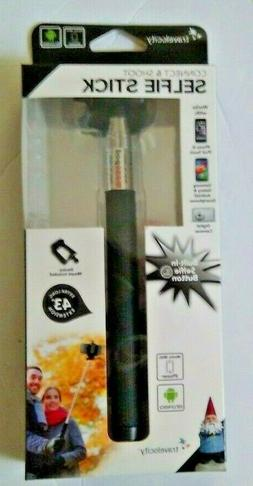 """TRAVELOCITY SELFIE STICK CONNECT & SHOOT EXTRA LONG 43"""" EXTE"""