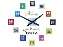 Sentiment Photo Mute DIY Large Wall Clock 3D Sticker Home Of