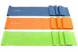 Set of 3 Fit Therapy Flat Resistance Bands 6' each-Extra L