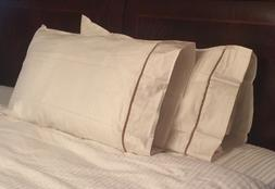 Set of two extra long queen pillow cases