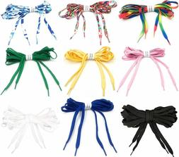 Shoe Laces Multi Color, Wide, extra Long 95 in String, High