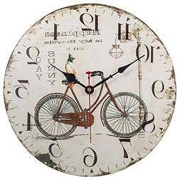 Silent Non-Ticking Decorative Wooden Wall Clock by SkyNature