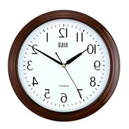 hito Modern Extra Large Silent Non-ticking Wall Clock- Glass