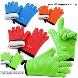 PASBUY® Silicone Extra-Long Quilted Cotton Lining Gloves fo