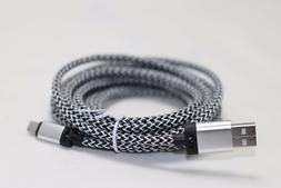 Silver 3M 10 ft extra long USB data Cable Charging cord For