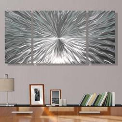 Silver Metal Wall Art by Jon Allen - Modern Abstract Metal P