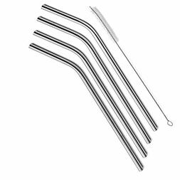 SipWell Extra Long Stainless Steel Drinking Straws Set of 4,