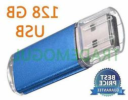 Sleek BLUE 128GB BRAND NEW USB 2.0 Thumb Pen Flash Drive Mem