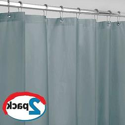 Smoke Shower Curtain Liner Vinyl Mildew Resistant Extra Long