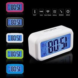 Snooze Electronic Digital Alarm Clock LED light Light Contro