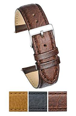 Soft Stitched Semi Padded Genuine Leather Buffalo Grain Watc