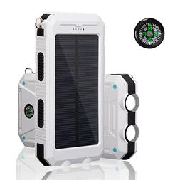 Solar Charger, SOMAN® Solar Powered Charger 10000mAh Portab