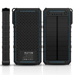 JETSUN Solar Charger 16750mAh Portable Solar Power Bank with