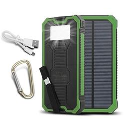 ToHLo Solar Charger Power Bank 15000mAh, Solar External Batt