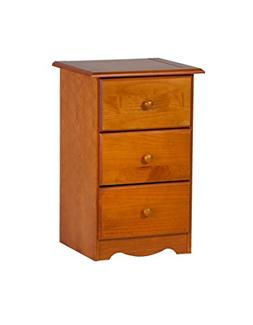 100% Solid Wood 3-Drawer Night Stand by Palace Imports, Hone