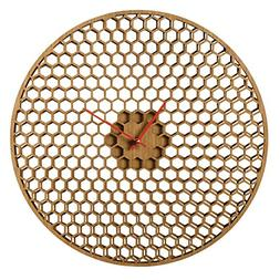 "Spinning Honeycomb Wall Clock - Large 16"" Diameter"