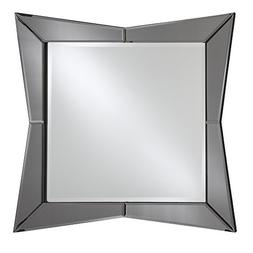 "Breeze Point 24"" x 24"" Square Beveled Modern Wall Mirror -De"