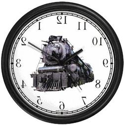 Steam Engine or Locomotive Train No.1 Wall Clock by WatchBud