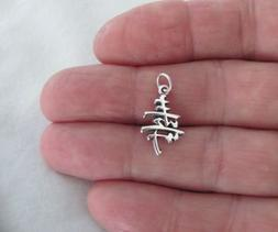Sterling Silver Chinese long life symbol small charm.Jewelry