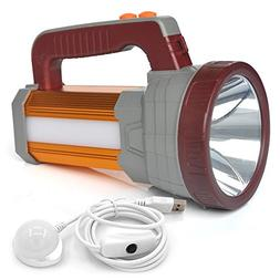 BIGSUN Super Bright LED Searchlight USB Rechargeable Outdoor