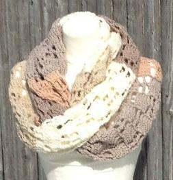 Super Scarf Shades of Beige Extra Long Easy Printed Pattern