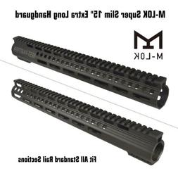 "Super Slim 15"" Extra Long Free Float M-LOK Handguard Light W"