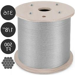 """T316 1/8"""" 1x19 Stainless Steel Cable Wire Rope"""