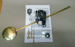 Takane Pendulum Clock Movement, USA made, with pendulum, han