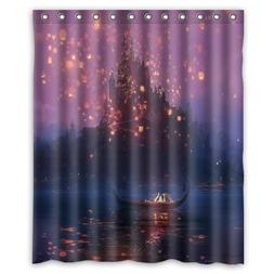 "Tangled Custom Shower Curtain 60""x72"" Waterproof Fabric Show"